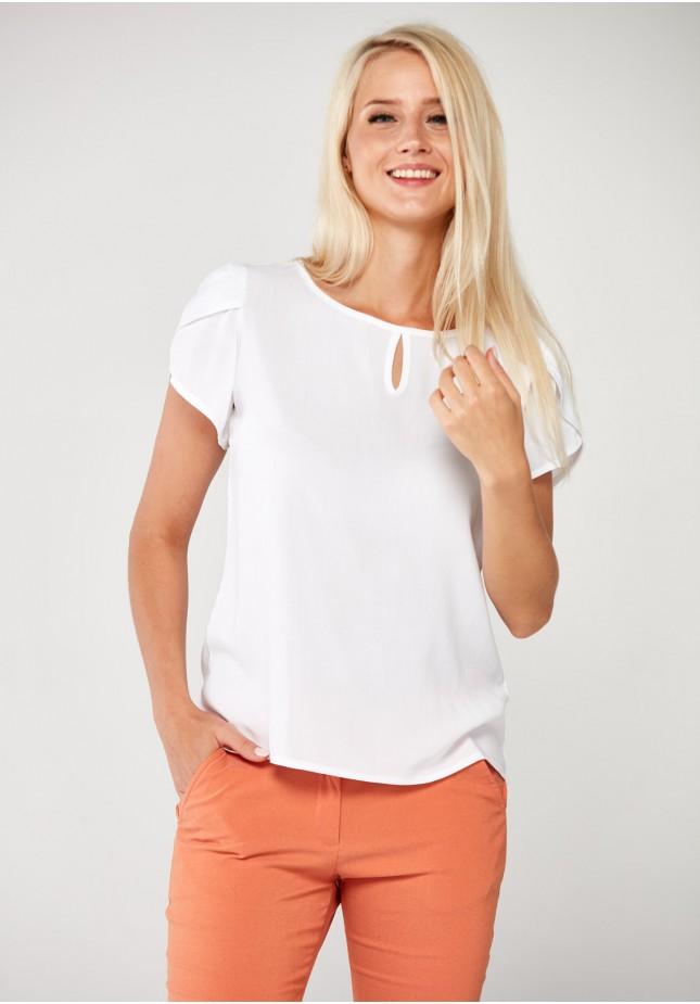 Biała Bluzka z wiskozy