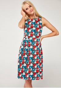 Sukienka 1032 (kolorowe kwiaty)