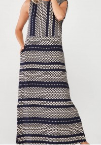 Navy maxi Dress with dots