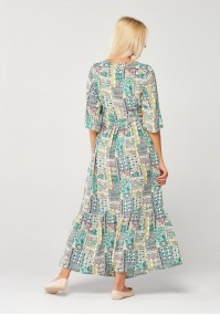 Seledynowa Sukienka maxi