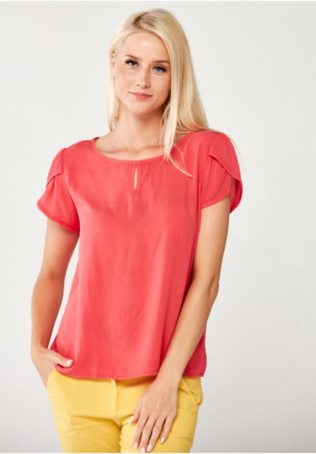 Różowa Bluzka z wiskozy