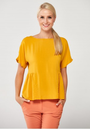 Yellow Viscose Blouse
