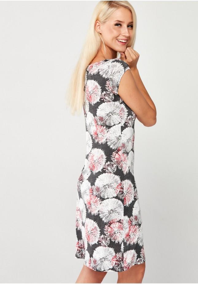 Szara Sukienka w dmuchawce