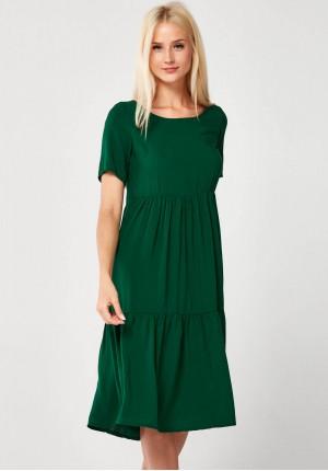 Ciemnozielona letnia Sukienka