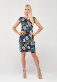 Sukienka w kolorowe rozety