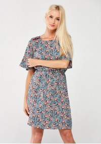 Floral Dress with binding