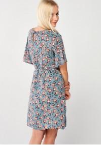 Kwiecista Sukienka z wiązaniem