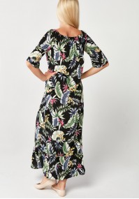 Floral maxi Dress with frill