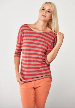 Striped orange Blouse
