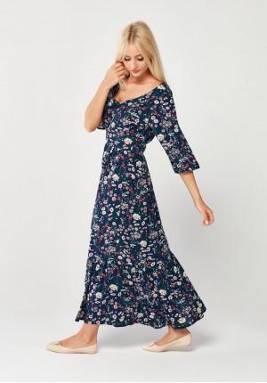 Kwiecista odcinana Sukienka MAXI