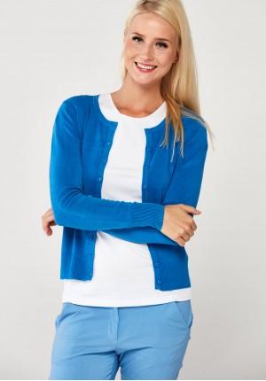 Klasyczny sweter w chabrowym kolorze