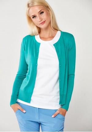Klasyczny turkusowy sweter