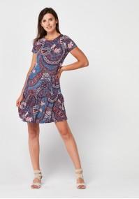 Denim dress with frill