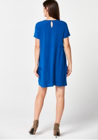 Simple blue loose dress