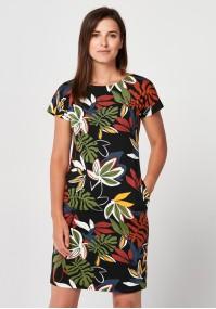 Sukienka w kolorowe liście