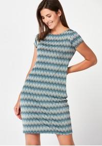 Dress with white stripes