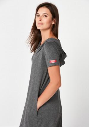 Grey dress with hood