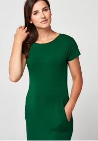 Długa zielona sukienka