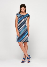 Simple dress with blue stripes