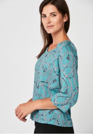 Błękitna luźna bluzka