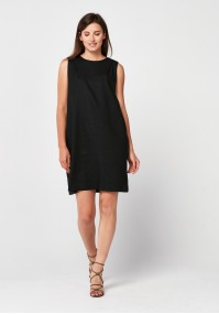 Black loose dress