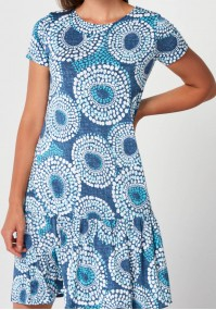 Blue Dress with dots
