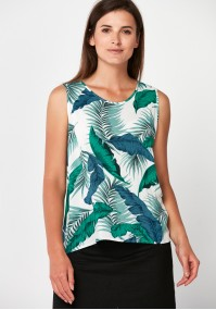 Blouse with leaves