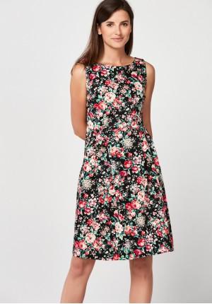 Elegancka sukienka w liście