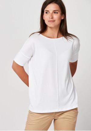Bluzka z dzianiny w białym kolorze