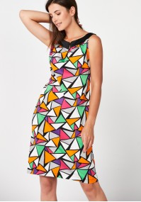 Dress with colorful triangles