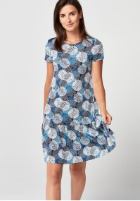 Sukienka z falbaną w koła