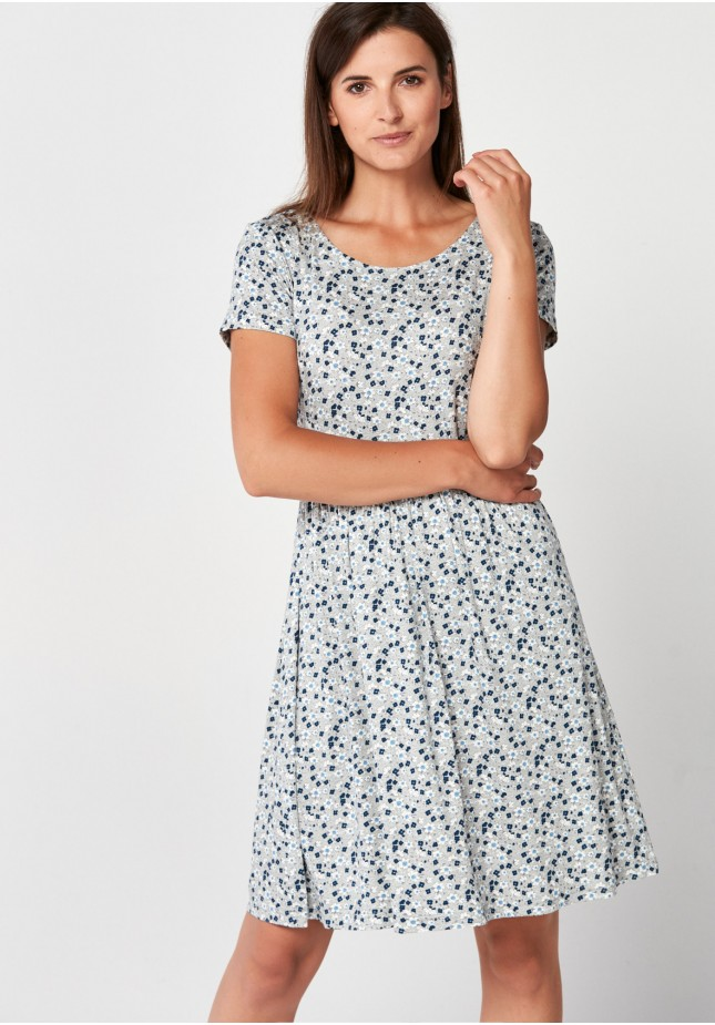 Grey dress with flowers