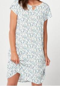 Letnia prosta sukienka w małe kwiatki
