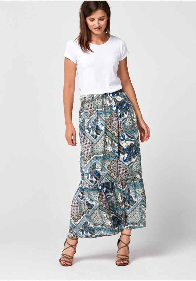 Maxi loose patterned skirt