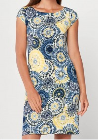 Simple dress with yellow patterns