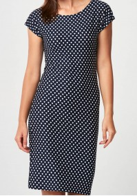 Fitted dress with hearts