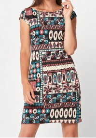 Dress with colorful patterns