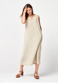 Maxi beige dress