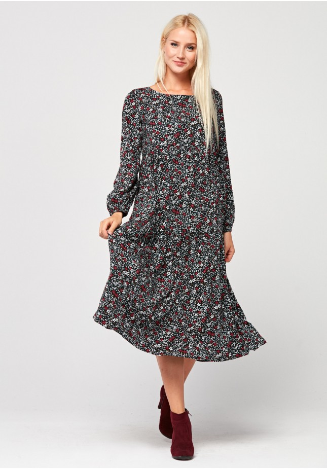 Long dress with flowers