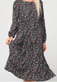 Długa sukienka w kwiatki