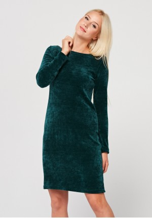 Fitted velor dress