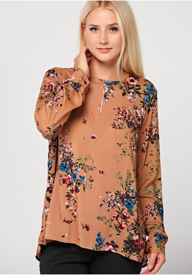 Brązowa luźna bluzka