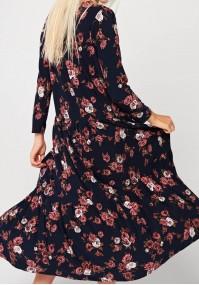Maxi sukienka w róże