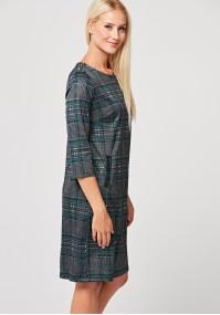 Elegancka sukienka w kratkę