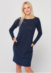 Fitted dress with dots