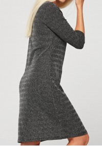Dress with metallic fiber