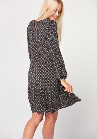 Viscose dress with frill