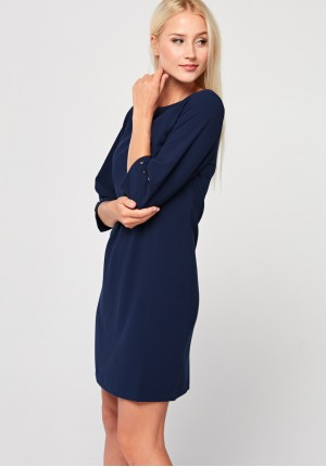 Elegant navy blue dress