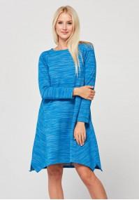 Niebieska trapezowa sukienka