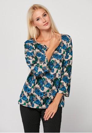 Bluzka w niebieskie kwiaty